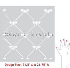 Pattern Stencils   French Bee Trellis Stencil   Royal Design Studio