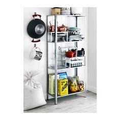 HYLLIS Hylly IKEA Sekä sisä- että ulkokäyttöön. Muovitassut suojaavat lattiaa naarmuuntumiselta.