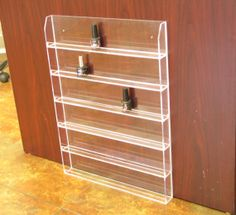 Brand New High Quality 72 Bottles Clear Acrylic Nail Polish display organizer wall rack. on Etsy, $17.99
