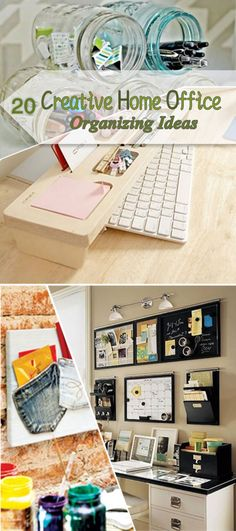 20 Creative Home Office Organizing Ideas #Storage #organization    http://www.laladecor.com/