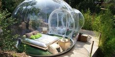 "These ""bubble hotels"" are the ultimate camping experience, in France #travel #roadtrips #roadtrippers"
