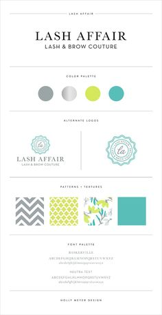 Style Guide by Holly Meyer Design - Brand Transformation: Lash Affair.