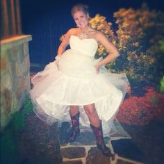 Of course I wore Aggie boots under my wedding dress! :) whoop!
