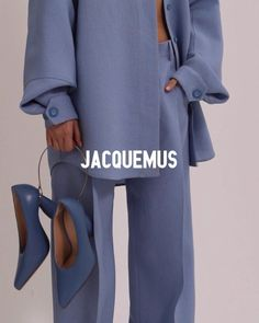 creative campaign fashion campaign JACQUEMUS on In - Runway Fashion, High Fashion, Fashion Outfits, Womens Fashion, Fashion Tips, Fashion Design, Fashion Quotes, Winter Fashion, Fashion Fashion