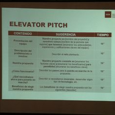The Elevator Pitch Template  Elevator Pitch