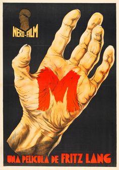 M (Dir. Fritz Lang, 1931) - Spanish poster