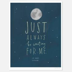 Always Be Waiting | Peter Pan | by Emily McDowell | 8.5x11 | $22 | now featured on Fab