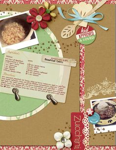 Love this idea for a recipe scrapbook page!