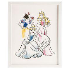 Cinderella, Snow White, & Sleeping Beauty Wall Decor