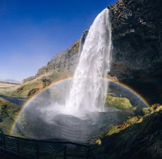 Photo of the Day! Grace Park sharing a #doublerainbow to start off your week! Stunning!  #GoPro #GoProTravel #Iceland #seljalandsfosswaterfall