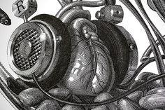 Olivia Knapp's Pen-and-Ink Drawings of Bizarre Still Lifes