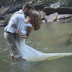 Trash the Dress Waterfall River