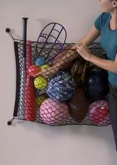 Great for the garage EZNet Organizer - Great organizational tip for the garage for more than just sports equipment.