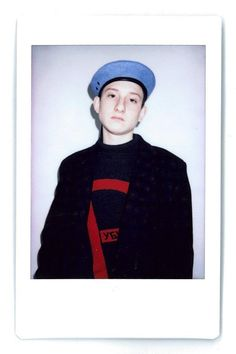 A young model from Kaliningrad, hired by Gosha to be the fit model at his showroom in Paris