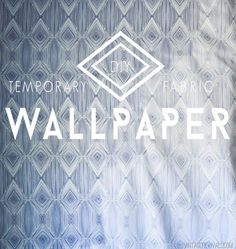 DIY Temporary Fabric Wallpaper is perfect for a rental space or trying out a bold pattern/color in a room!