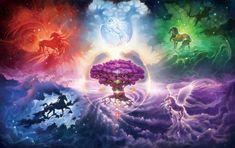Five Ironic Horse Constellations Around The Tree Of Stars