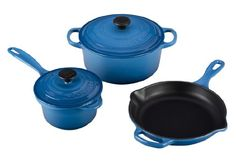 Le Creuset MS12051-59 Signature Cast Iron 5-Piece Cookware Set, Marseille *** Check out the image by visiting the link.