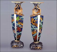 Fred Rich,Candlesticks.A pair is at the Victoria and Albert Museum,London.
