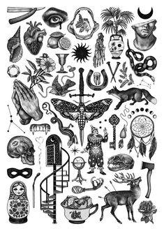 Dope Tattoos, Flash Art Tattoos, Black Ink Tattoos, Body Art Tattoos, Hand Tattoos, Sleeve Tattoos, Tatoos, Chest Tattoo Flash, Tattoo Flash Sheet
