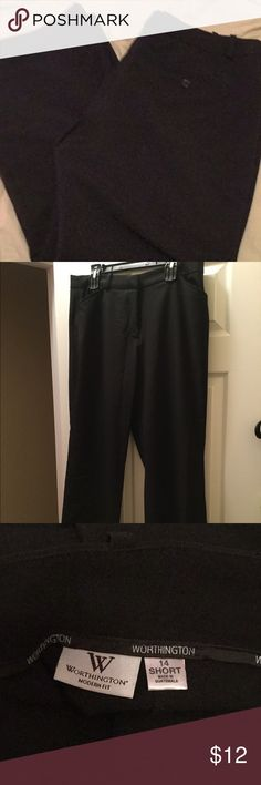Black Slacks Wide leg work slacks Worthington Pants