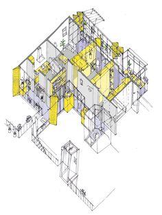 Vivienda con pasillo. Recooperation por Improvistos. Imagen © Improvistos. Cortesía de Mass Housing Competition.