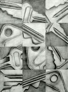 12 views of an object--drawing class Drawing Projects, Drawing Lessons, Art Lessons, School Lessons, Drawing Ideas, High School Art Projects, Art School, Art Education Projects, 3d Street Art