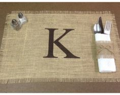 Burlap flat lace rustic country placemats with or by HooRaze