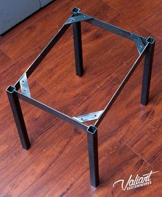 Industrial flat-side square tube table frame by valiantcustomworks