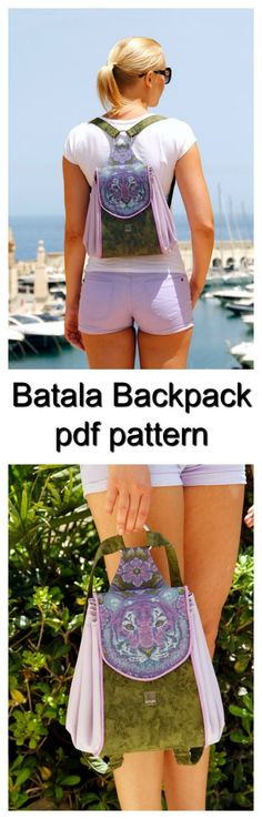 If you want a practical backpack that looks more like a pretty handbag or accessory then the Batala Backpack is the bag for you. The Batala Backpack has proper pockets for your cellphone, keys etc and it has a sturdy center, so it holds it shape nicely despite the half circle sides which gives the beautiful folds on the sides. It's such a handy size to replace your everyday handbag and it's super comfortable to wear with it's padded adjustable straps and you can easily hand carry...