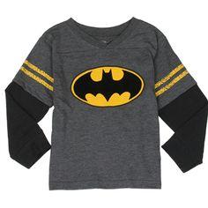 Batman Toddler Boy's Baseball L/S Top