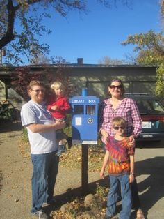 Rachel Frank. Chico, CA. We love the The Little Free Library because it is a beautiful community building program that encourages sharing books. My mom and I used to watch Doctor Who together, so my husband decided to build a TARDIS box in her memory. We have been thrilled with the response, the box is used almost every day!
