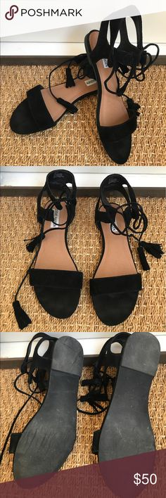 Steve Madden Daryyn Suede Sandals Gorgeous SM read suede sandals- worn about 5 times. In original box with all packaging. Originally bought from Nordstrom Steve Madden Shoes Sandals
