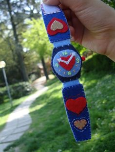 felt bracelet - heart watch