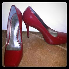 Gianni Bini patent red pumps Near perfect, 8.5 pumps. Only worn around the house a couple times. Gianni Bini Shoes Heels