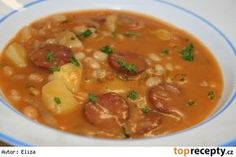 Výborná fazolová polévka Soup Recipes, Snack Recipes, Cooking Recipes, Czech Recipes, Ethnic Recipes, Weight Loss Smoothies, What To Cook, Food 52, No Cook Meals