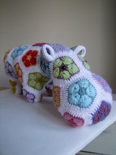 Crochet Hippo Stuffed Hippo Toy Decoration Ornament Heidi bears Pattern by OurBlueShed on Etsy
