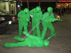 homemade plastic army men group halloween costume idea our homemade plastic army men group halloween costume idea was inspired by a kids movie that was - Boys Army Halloween Costumes