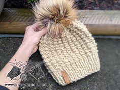 Caterpillar Bulky Knit Hat Pattern · Crazy Hands Knitting Knitting Yarn, Hand Knitting, Knit Beanie Pattern, Super Bulky Yarn, Knitting Patterns Free, Knitted Hats, Knit Crochet, Beanies