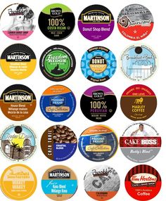 20 Cup LIGHT and  MEDIUM Roast ONLY Coffee Sampler -20 different Light and Medium Roast NON-flavored Coffees. Wolfgang Puck, Tim Hortons, Hurricane Coffee   *** Unbelievable product right here! : K Cups