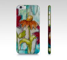 Étui I Pad mini, coque IPhone, étui Samsung fleurs feuillage par Marika Lemay artiste mixed media pour protéger et embellir un téléphone de la boutique MarikaLemayArtiste sur Etsy