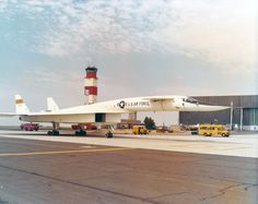 North American XB-70A Valkyrie 3/4 front view at Edwards AFB, Calif. in July 1968. (U.S. Air Force photo).