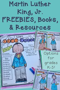 Looking for great activities for your classroom this February during Black History Month, check out these Martin Luther King, Jr. FREEBIES, books, & resources. There are options that will work great with your Kindergarten, 1st, 2nd, 3rd, 4th, or 5th grade