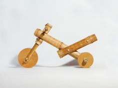 Bamboo tricycle.