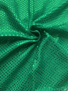 """44/45"""" Kelly Green Dot Sequin Fabric By The Yard Green Dot, Sequin Fabric, Kelly Green, Fabric Decor, Dots, Sequins, Yard, Digital, Stitches"""
