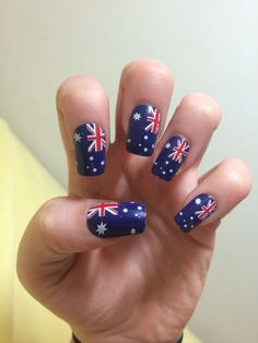 The 186 Best Australia Day Images On Pinterest Flag Nails Nail