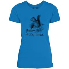 Mintage Frisky the Squirrel Womens Fine Jersey T-Shirt