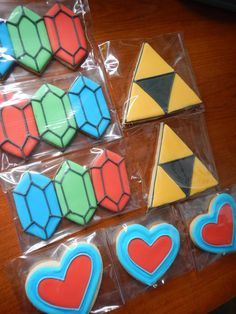 Zelda Sugar Cookies by Sweethart Baking Experiment 9th Birthday Parties, Boy Birthday, Zelda Baby, Zelda Birthday, Birthday Decorations, Diy Zelda Decorations, Cookie Designs, Baby Shower, Cookie Decorating