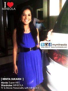 #myMINEOLA with TV & Movie Personality Renita Sukardi yang berperan sebagai Dona di Sinetron Super ABG mengenakan dress chiffon tanpa lengan koleksi dari MINEOLA.  Dress yang Renita kenakan dapat dilihat di: http://www.facebook.com/photo.php?fbid=10151393009579046=a.10151404499409046.585924.98906349045=3