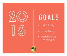 What are some of your goal in 2016?