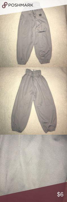 Wilson gray baseball pants Sz XS Wilson gray baseball pants size XS. Gender neutral; has a pen mark on right leg, see pic Wilson Bottoms